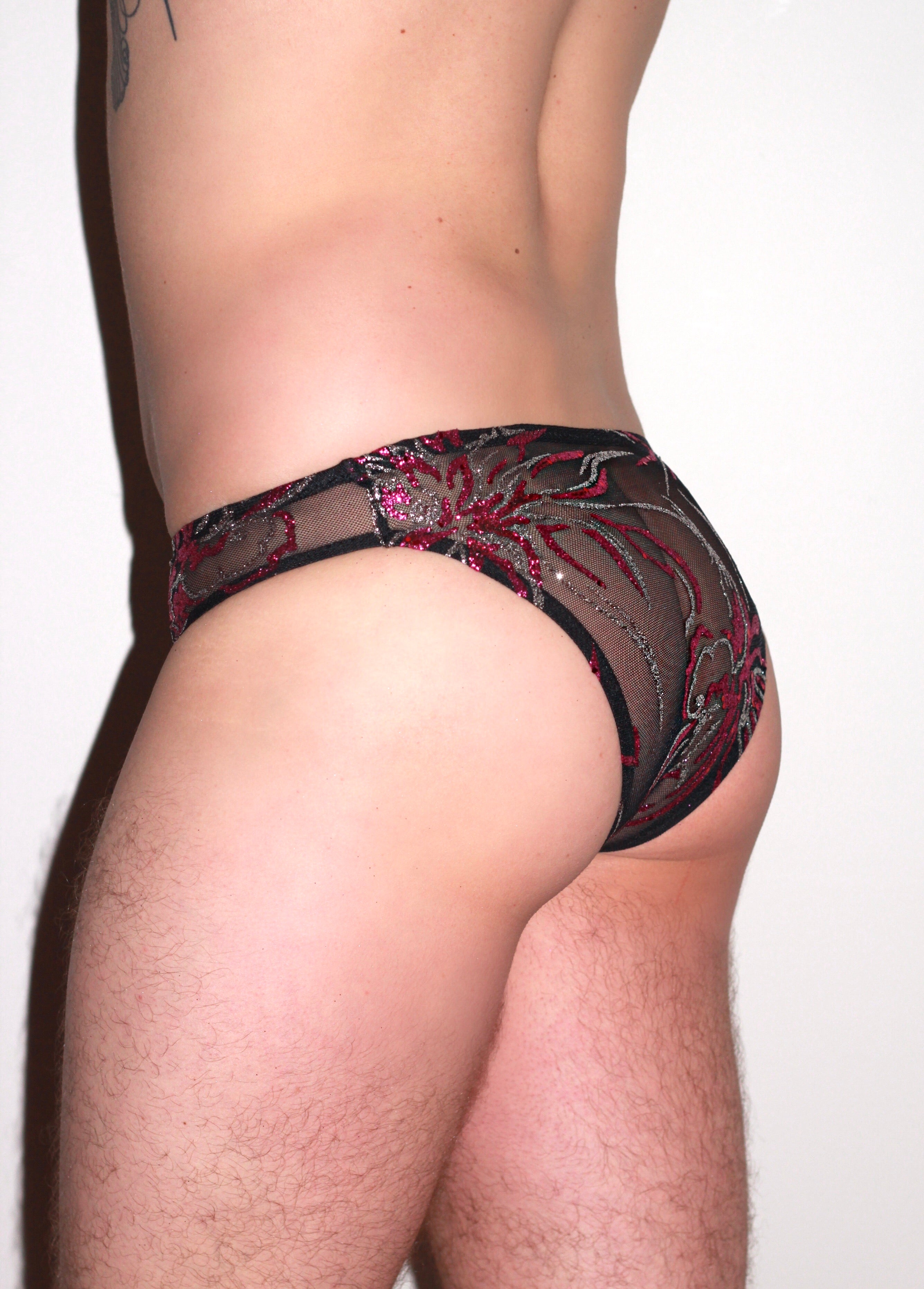Limited Edition Glitter Mesh Brief