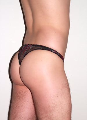 Limited Edition Glitter Mesh Thong