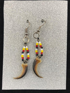 Porcupine Claw & Bead Earrings