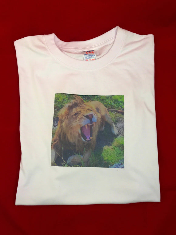 Lion T-Shirt Unisex - White