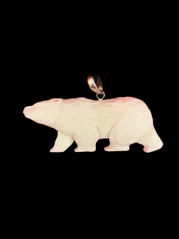 Carved Bone Pendant - Bear