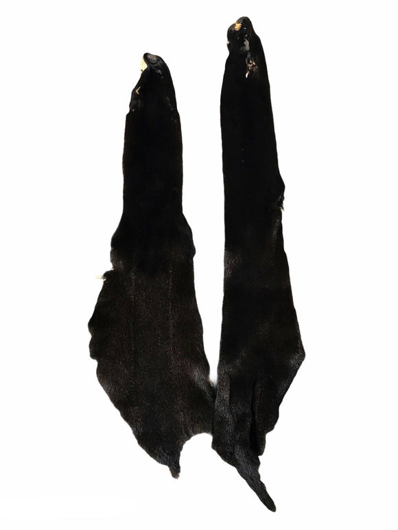 Mink Fur Pelt - Dark Brown