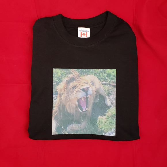 Lion T-Shirt Unisex - Black