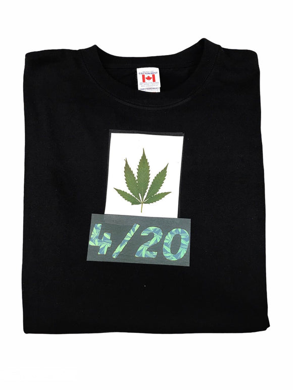 Real Weed Leaf 4/20 T-Shirt Unisex