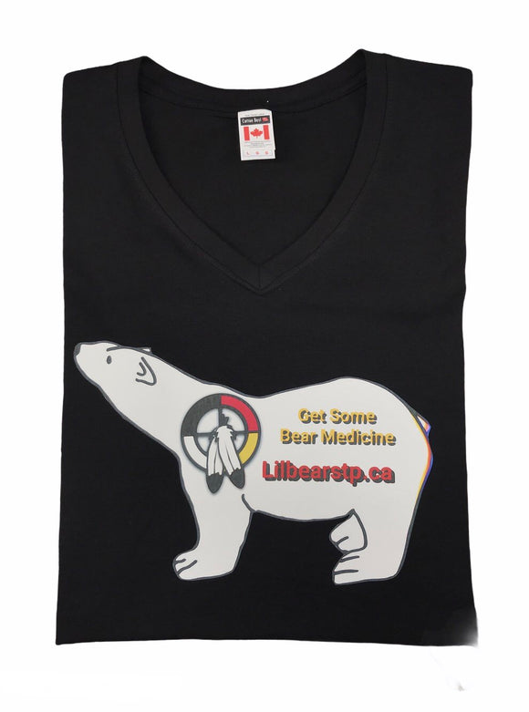 Women's Bear Print V-Neck