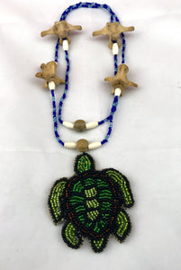 Beaded Turtle Island Necklace