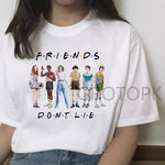 Funny T Shirt for Women Stranger Things Female Tshirt Friend Don't Lie Letter Print Tshirts Summer O-neck Hot Tv Series T-Shirt