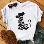 WVIOCE Hakuna Matata Shirt Women Harajuku Ullzang The Lion King T-shirt Femme Homme Summer Tshirt Fashion Top Tee Female T Shirt