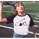 Womens T-Shirt Casual Short Sleeve Japanese Anime Women Cartoon Shirts O-Neck Neighbour Totoro Ride The Cat Bus T Shirt