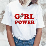 girl power Feminism women t shirt t-shirt Feminism top Graphic female feminist tee 2019 kawaii shirt Print harajuku Summer
