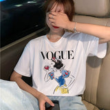 Vogue Princess T Shirt Women Harajuku Ullzang Graphic T-shirt Funny Cartoon 90s Tshirt Aesthetic Korean Style Top Tees Female