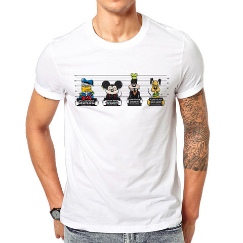 2019 new print tees mouse t-shirt men tops hip hop casual funny dog cartoon tshirt homme comfort t shirt