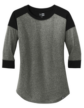Load image into Gallery viewer, New Era® Ladies Heritage Blend 3/4-Sleeve Baseball Raglan Tee