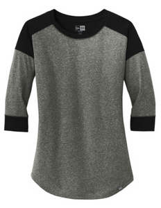 New Era® Ladies Heritage Blend 3/4-Sleeve Baseball Raglan Tee