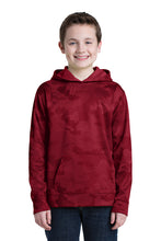 Load image into Gallery viewer, Hornell Sport-Tek® Youth Sport-Wick® CamoHex Fleece Hooded Pullover - YST240