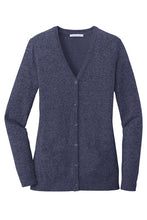 Load image into Gallery viewer, U of R Port Authority ® Ladies Marled Cardigan Sweater LSW415