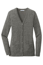 Load image into Gallery viewer, HBPC Port Authority ® Ladies Marled Cardigan Sweater LSW415