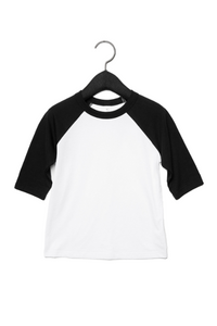 BCOJ CV839 BELLA+CANVAS® 3200T Toddler 3/4 Sleeve Baseball Tee