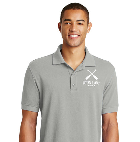 LL Two Oars (Embroidered) Eddie Bauer Golf Polo