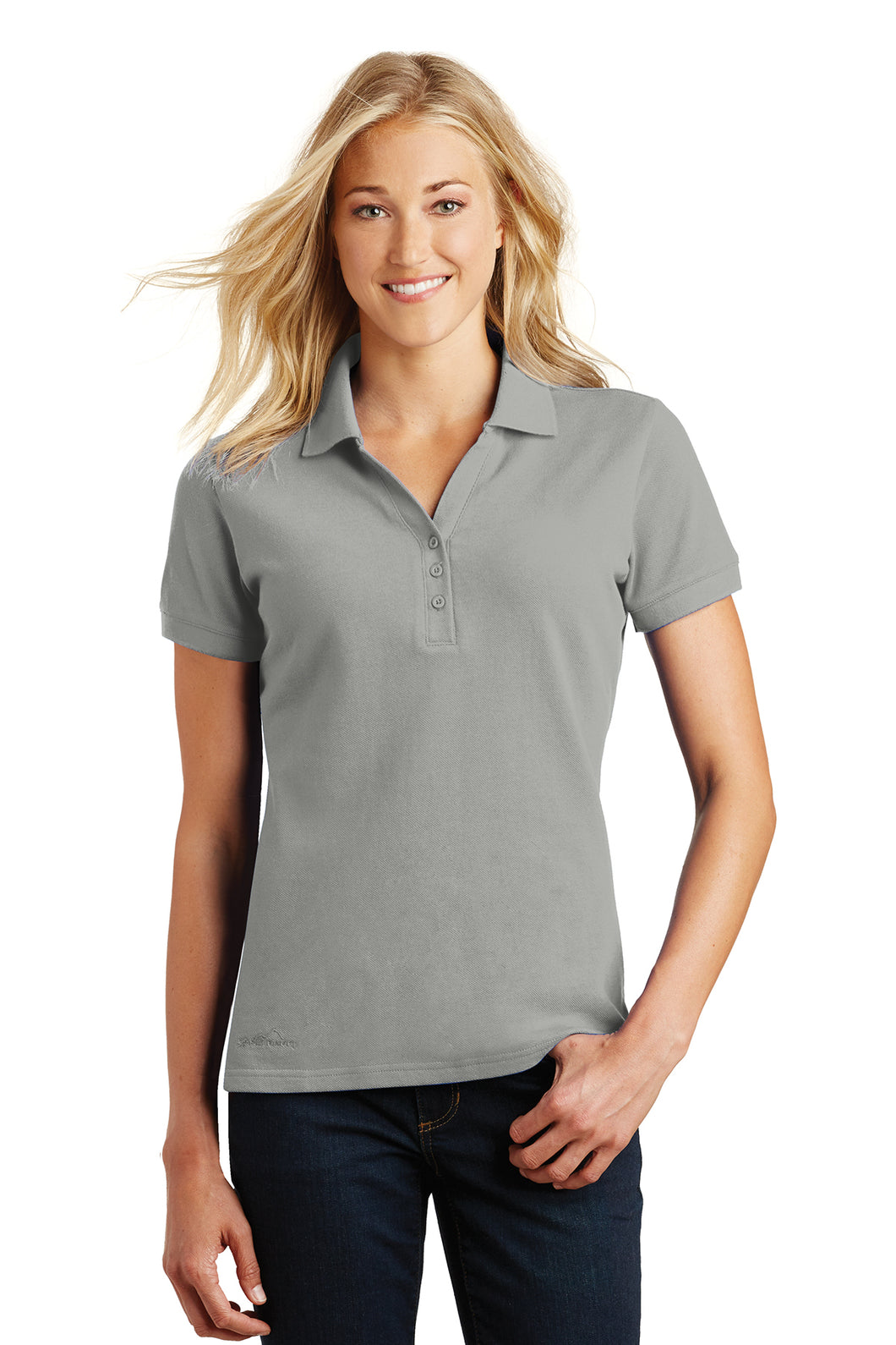 LL Lake Image (Embroidered) Women's Eddie Bauer golf polo