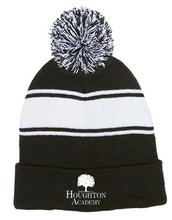 Load image into Gallery viewer, Pom Pom Striped Beanie