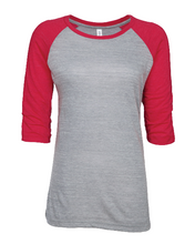 Load image into Gallery viewer, BCOJ EZ074 Enza® 07479 Ladies Vintage Triblend Raglan Baseball Tee
