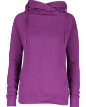 Load image into Gallery viewer, HBPC Enza® Ladies Classic Fleece Funnel Neck Pullover Hood EZ329