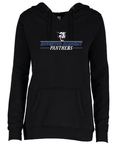Houghton Academy (Panthers Logo) Ladies V-notch hoodie