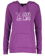 Load image into Gallery viewer, LL Sailboat Enza Ladies V-Notch Fleece Pullover Hood