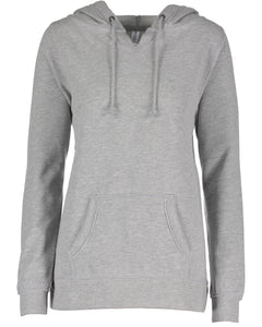 "LL ""Life is Better at Loon Lake"" Enza Ladies V-Notch Fleece Pullover Hood"