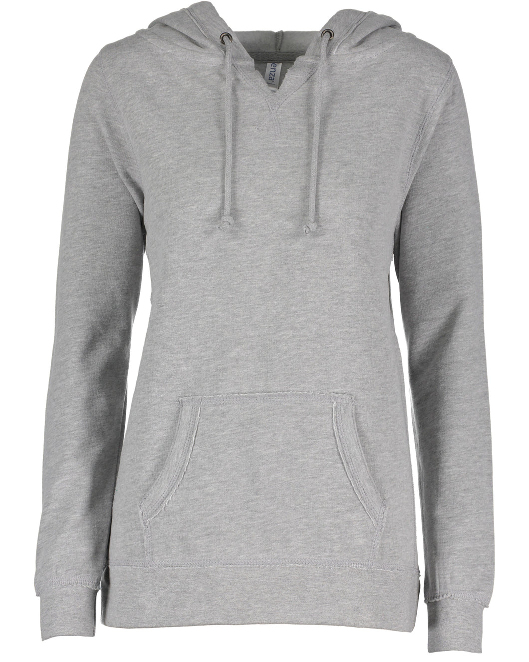 LL Loon Lake Words Only Enza Ladies V-Notch Fleece Pullover Hood