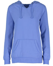 Load image into Gallery viewer, LL Lake Image Enza Ladies V-Notch Fleece Pullover Hood