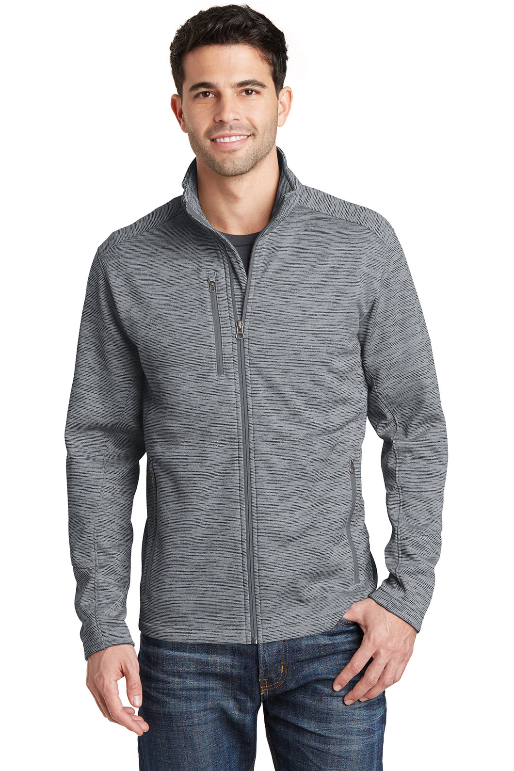 U of R Port Authority® Men's Digi Stripe Fleece Jacket F231