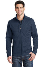 Load image into Gallery viewer, U of R Port Authority® Men's Digi Stripe Fleece Jacket F231