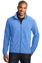 Load image into Gallery viewer, HBPC Port Authority® Men's Heather Microfleece Full-Zip Jacket F235
