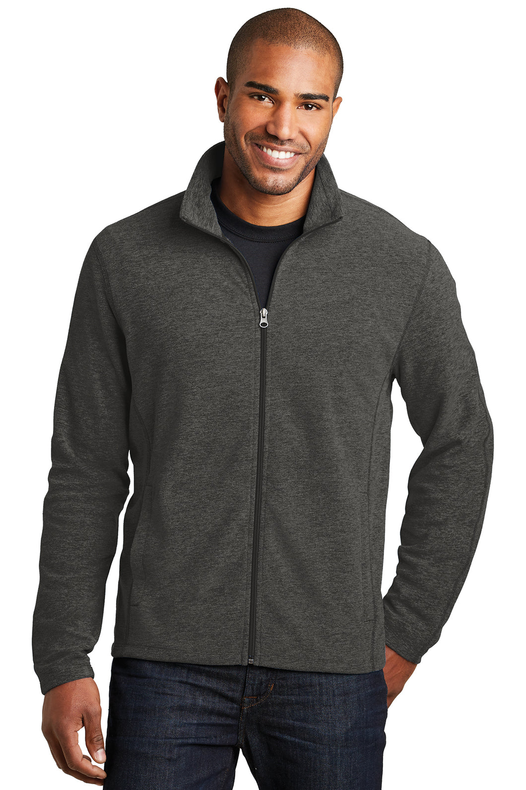 HBPC Port Authority® Men's Heather Microfleece Full-Zip Jacket F235