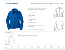 Load image into Gallery viewer, VA Port Authority® Ladies Value Fleece Jacket -  L217