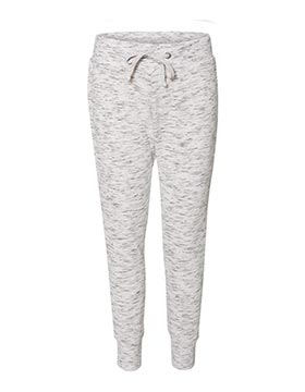 Boces JA087 J.America® 8675 Ladies Melange Fleece Jogger Pant