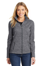 Load image into Gallery viewer, HBPC Port Authority® Ladies Digi Stripe Fleece Jacket L231