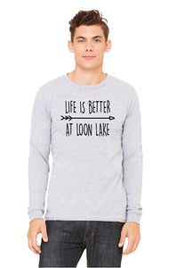 "LL ""Life is Better at Loon Lake"" Unisex Long Sleeve Jersey Tee"