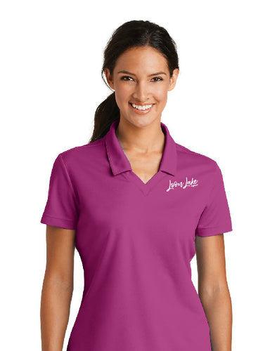 LL Loon Lake Words Only (Embroidered) Nike Women's Golf Polo