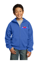 Load image into Gallery viewer, HSC Port & Company® Youth Core Fleece Full-Zip Hooded Sweatshirt - PC90YZH