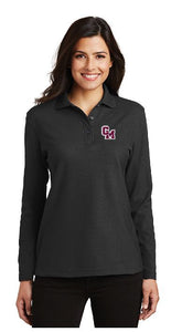 Cal-Mum L500LS  Black Port Authority® Ladies Silk Touch™ Long Sleeve Polo