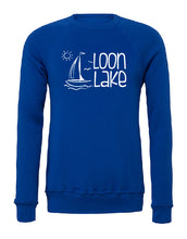 Load image into Gallery viewer, LL Sailboat Unisex Sponge Fleece Raglan Sweatshirt