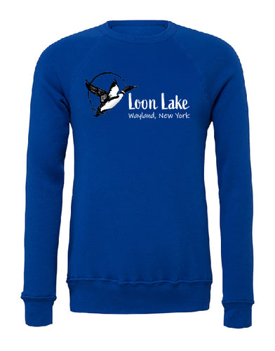 LL Loon Bird Unisex Sponge Fleece Raglan Sweatshirt