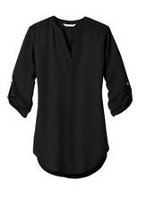 Load image into Gallery viewer, Swain Employee Ladies 3/4-Sleeve Tunic Blouse