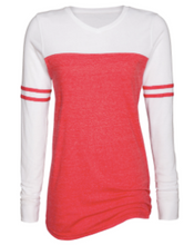 Load image into Gallery viewer, Hornell Ladies Triblend Varsity Long Sleeve Tee EZ098