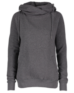 Ladies Classic Fleece Funnel Neck Pullover Hood EZ329