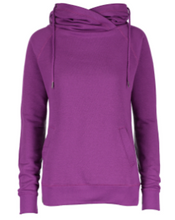 Load image into Gallery viewer, Ladies Classic Fleece Funnel Neck Pullover Hood EZ329