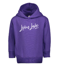 Load image into Gallery viewer, LL Loon Lake Words Only Toddler Pullover Fleece Hoodie